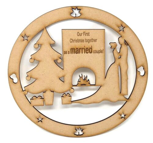 First Christmas together First Christmas as a Married couple gift wooden mdf
