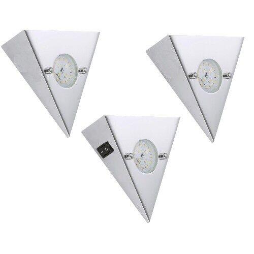 LED Lámpara Foco Juego de 3 Foco Cromado Cocina Foco Empotrable Interruptor