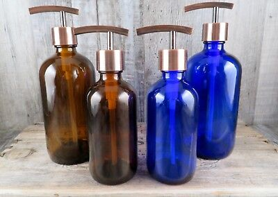 Bath Or Kitchen Choose Size And Color Apothecary Style Copper Soap Pump