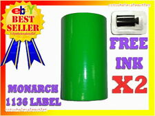 2 Sleeves Green Label For Monarch 1136 Pricing Gun 2 Sleeves16rolls
