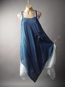 Lagenlook-Italy-Country-Prairie-Boho-Handkerchief-Peasant-Pinafore-202-mv-Dress