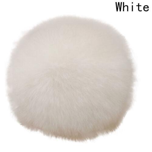 2pcs DIY 8CM Faux Rabbit Fur Pom Pom Soft Ball for Beanie Hat Luxury Trend