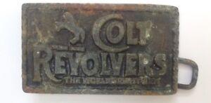 Colt-Revolvers-Boucle-de-ceinture-style-PLAQUE-AFFICHAGE-Vintage-American-Retro-Classique