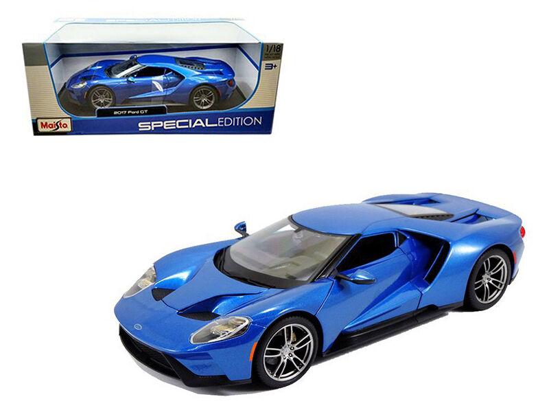 2017 ford gt supercar blaue 1,18 - skala ein diecast modell - 31384bl