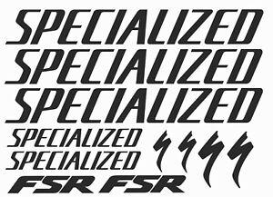 Specialized Vinyl Decal Graphic Sticker Set MTB DH XC Bike