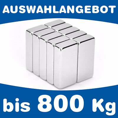 2,6 kg 10 x Quadermagnet Magnetquader  10 x   5 x  8mm Neodym N45 Nickel