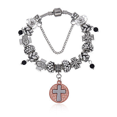 Argent Sterling 925 Enchanted Heart Tassel Charm Dangle Fit European Bracelet
