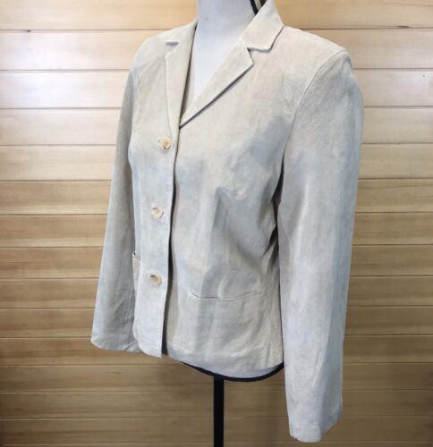 jakke kvinders Loft Taylor kraveforet knap læder Sz Ann ned M Tan ægte zTq8wSw