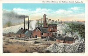 JOPLIN-MO-Missouri-MINE-in-the-TRI-STATE-AREA-Smoke-Stacks-c1940-039-s-Postcard