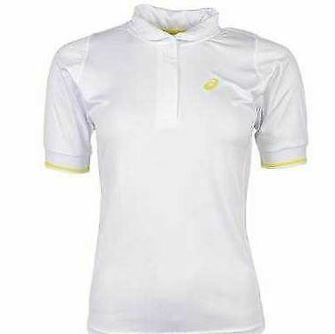 ASICS Women/'s Break Polo Short Sleeve Top Real White XL