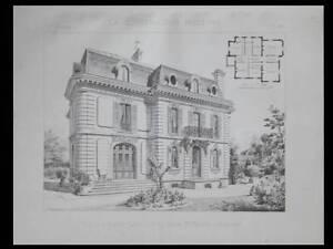 SAINT LEU LA FORET, VILLA - 1896 - PLANCHE ARCHITECTURE - FRANTZ JOURDAIN - France - Thme: Architecture Période: XIXme et avant - France