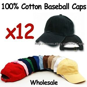 Details about WHOLESALE 100% Cotton Caps Soft Unstructured with Buckle Back  Adjustable strap 26743783b98c