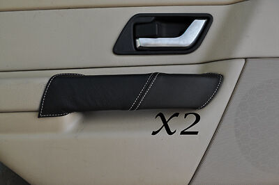 WHITE STITCH FITS LAND ROVER RANGE ROVER SPORT 05-11 2X REAR DOOR HANDLE COVERS