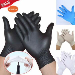 100Pcs-Rubber-Comfortable-Disposable-Mechanic-Nitrile-Gloves-Black-Exam-S-M-L-XL