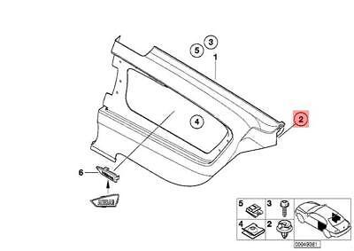 GENUINE OEM BMW F20 F23 F45 F46 E90 E60 Door Sill Cover Clips X18 51478244458