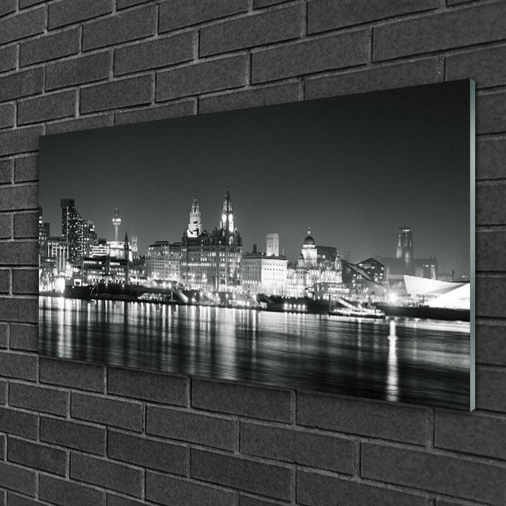 Tableau sur verre Image Impression 100x50 Bâtiments Ville Eau