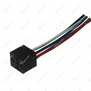 details about 1x 12v dc 30 40a spdt relay socket wire wiring harness 5 pin wire plug end 20930 5 Pin Wire Harness Kia Home Link