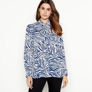 Camisa-Para-Mujer-Cebra-Animal-Print-utilidad-Camisa-ex-principios-Talla-8-20-RRP-32