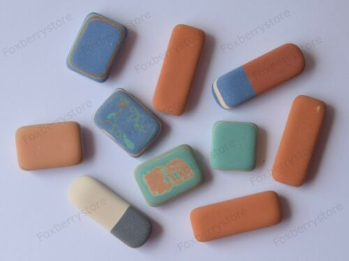 Office Pebble Eraser Koh-I-Noor Marbled Multi Colored Pencil Rubber 10 Pcs Mix