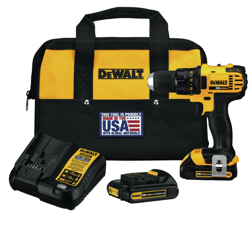 DEWALT DCD780C2 20V MAX 1/2 in. Compact Drill Driver Kit Certified Refurbished. Buy it now for 154.99