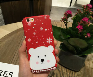 Merry Christmas Iphone 8 Case Iphone 8 Plus Case Cute Bear Iphone 8 8 Plus Case Ebay