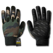 Woodland Forest Camouflage Tactical Driving Off Road Motorcycle Bike Gloves