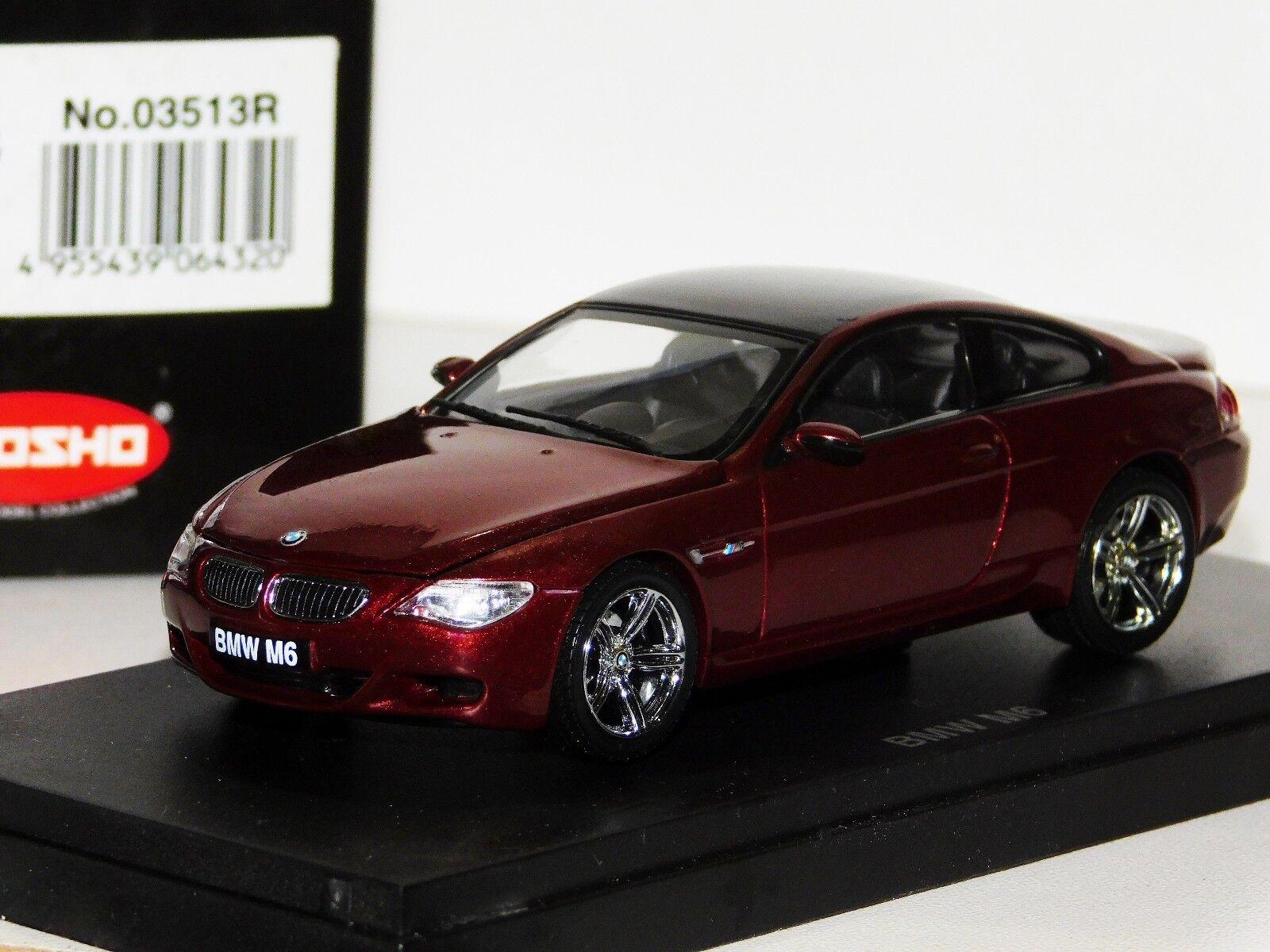 BMW M6 Rojo Oscuro Apertura Capó Kyosho 03513R 1 43 43 43 d5cf35