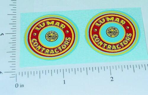 """Marx Lumar Contractors 1.25/"""" Round Stickers      MX-033"""