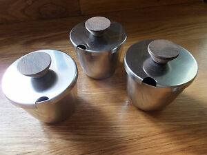 Danish-18-8-Stainless-Steel-Set-of-Three-Preserve-Jars-with-Wooden-Handles