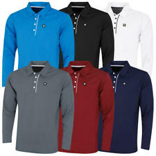 Stuburt Mens Urban Long Sleeve Wicking Breathable Golf Polo Shirt 33% OFF RRP