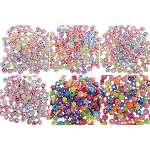 100x Perlen zum auffädeln Bastelperlen Schmuckperlen zum basteln Perlen
