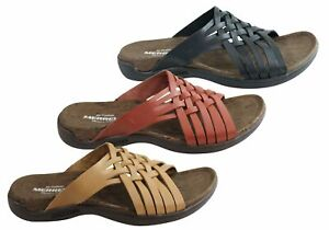 NEW-MERRELL-WOMENS-COMFORTABLE-LEATHER-DISTRICT-MAHANA-SLIDE-SANDALS