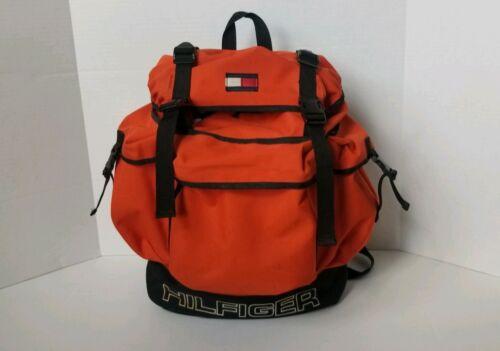 Vtg 90s Tommy Hilfiger Tactical Backpack Spellout