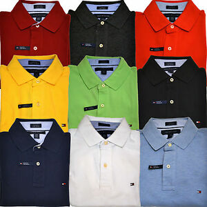 74152622 Tommy Hilfiger Polo Shirt Mens Custom Fit Mesh Solid Short Sleeve ...
