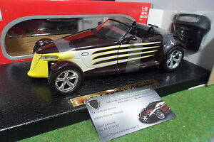 PLYMOUTH-PROWLER-HOT-ROD-cabriolet-violet-au-1-18-ANSON-30367-voiture-miniature