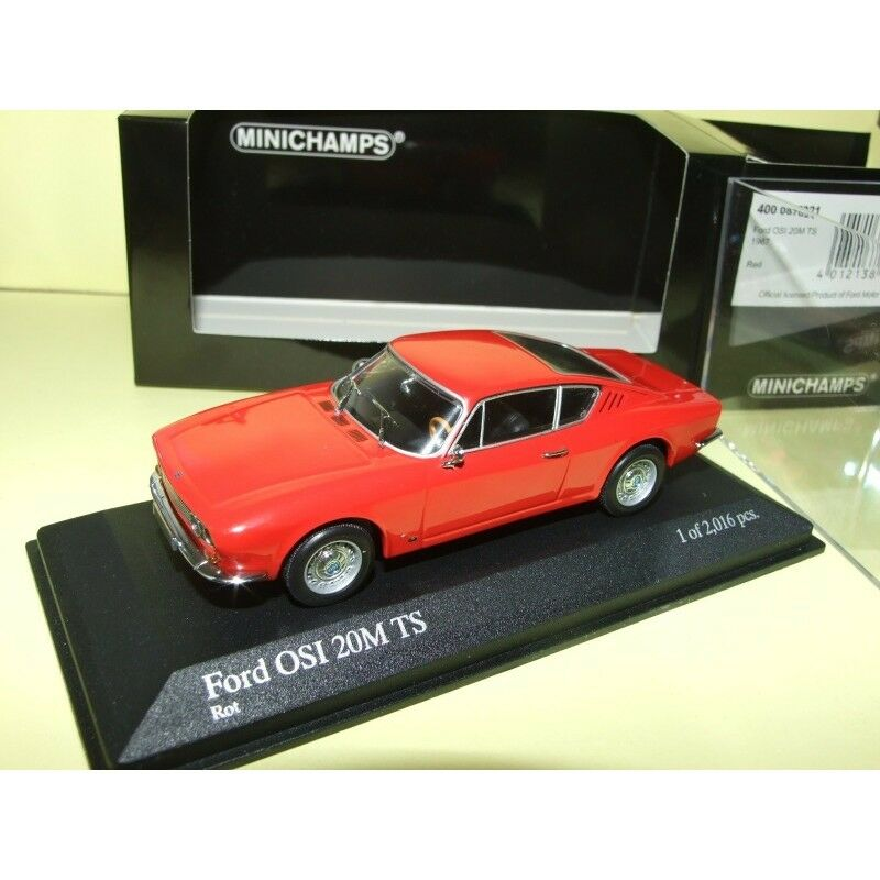 FORD OSI 20M TS 1967 Rouge MINICHAMPS 1 43