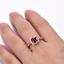 1-6ct-Cushion-Cut-Red-Garnet-Engagement-Ring-Diamond-Halo-14k-Rose-Gold-Finish thumbnail 6