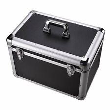 Black Aluminum Hard Toolboxes Big Capacity Tools Storage Boxes With Divides