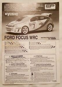 La Fourniture Kyosho Ford Focus Wrc-instruction Manual-no 30943-colin Mcrae-ep - 1999-afficher Le Titre D'origine