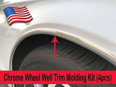 2005-2018 Mazda Models 4pc Chrome Wheel Well Fender Trim Molding Kit//5YR WRNTY