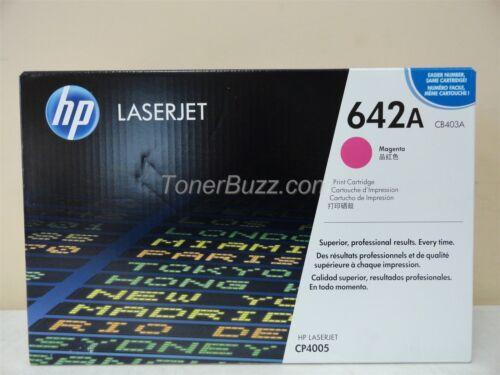 GENUINE HP CB403A 642A MAGENTA TONER CARTRIDGE LASER JET CP4005 BRAND NEW