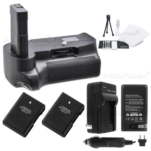 Battery Grip for Nikon D3200 D3300 + 2x EN-EL14a Battery + AC/DC Charger Kit