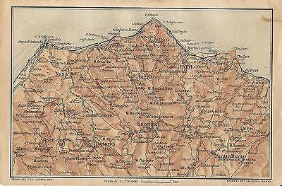 Sicilia Occidentale Cartina Stradale.Carta Geografica Antica Sicilia Capo D Orlando Messina Tci 1919 Antique Map Ebay