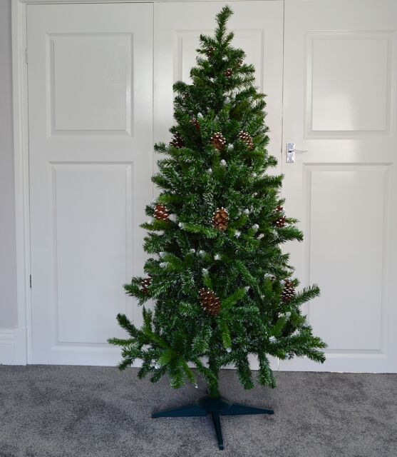 5ft 150cm Snow King Fir Christmas Tree With Pine Cones