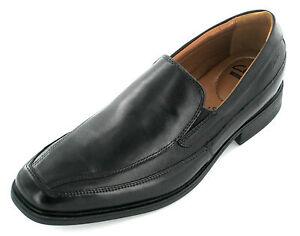CLARKS Tilden Free Mens Black Leather