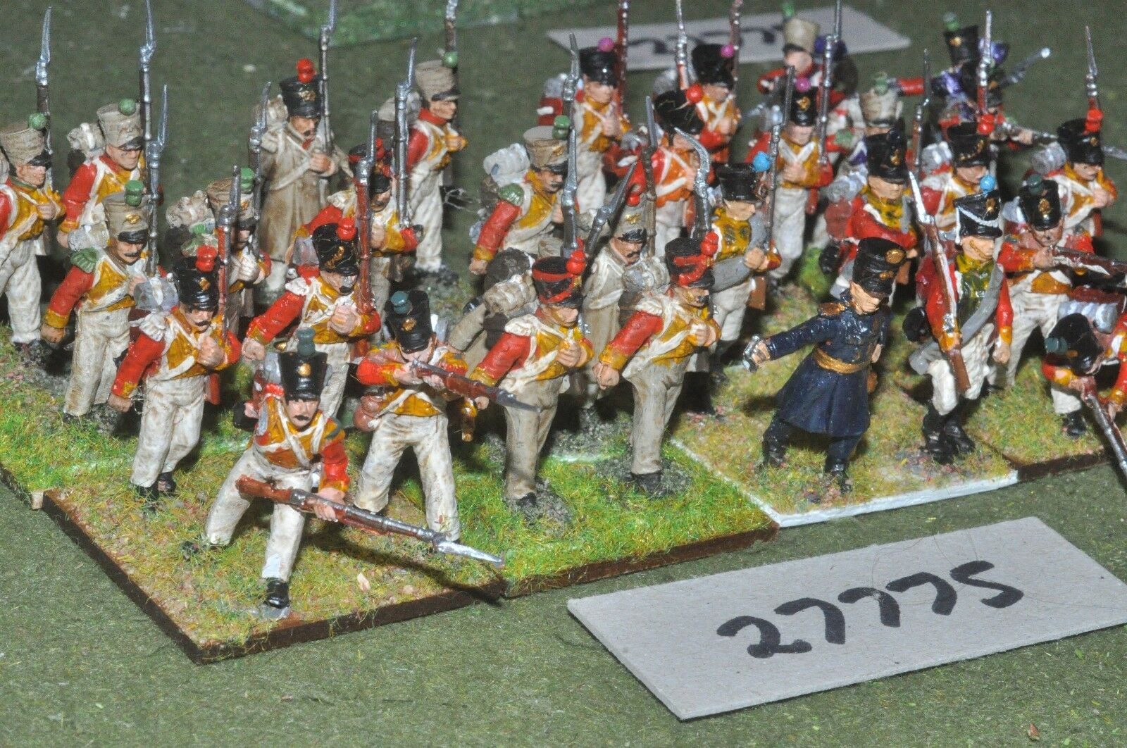 25mm napoleonic   french - swiss regiment 28 figures (plastic) - inf (27775)