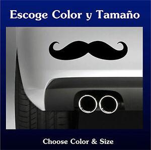 Sticker-Vinilo-Moustache-Bigote-Vinyl-Pegatina-Coche-Autocollant