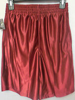 Men Athletech Basketball Athletic Shorts Maroon Size Medium