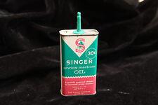Vintage Oil Tin - Singer Sewing Machine - 30 Cent 4 Fl Oz - Missing Cap - NY