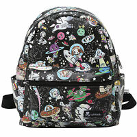 Tokidoki Space Characters Pebbled Faux Leather Mini Backpack Purse Loungefly